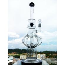 Meistverkaufte 18inch neueste Entwurfs-Schloss-Form Precolator-Glas-rauchende Wasser-Rohr