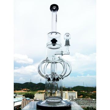 Top vendiendo 18inch más nuevo diseño castillo forma Precolator de vidrio de fumar pipa de agua