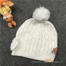 Chapeau de structure pointelle à motif festonné