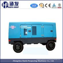 Compresseur à air à vis rotatif à moteur diesel portable pour perçage