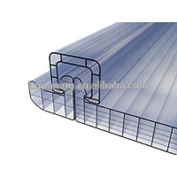 Directo a la fábrica barato lexan policarbonato sol tabla hueco hoja