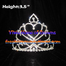 3.5inch Heart Shaped Tiaras And Crowns