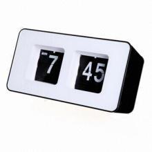 Unique Retro Cube Nice Desk Wall Auto Flip Clock (Black), 2-5 Days Lead Time