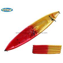 2 + 1 persona sentarse en la parte superior de plástico de gran kayak para alquilar