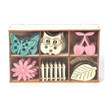FQ marque en gros mini bricolage coloré décoration ornement artisanat en bois