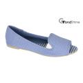 Women′s Open Toe Flat Fabric Ballet Shoes