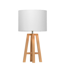 Lampe de table contemporaine en bois