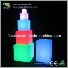 Cube acrylique à la lumière