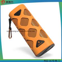 Altavoz Bluetooth portátil con micrófono incorporado (naranja)