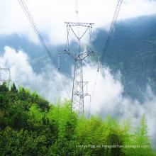 Torre de transmisión de energía de acero de ángulo único de circuito de 220 kV