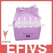 Proveedor púrpura elegante de la caja del favor de la boda de la venta