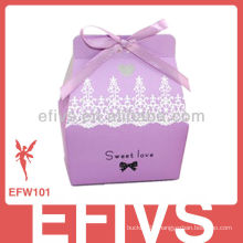 Hot Sale Elegant Purple Wedding Favor Box Supplier