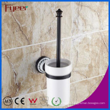Fyeer Classic Black Bathroom Accessory Brass Toilet Brush Holder