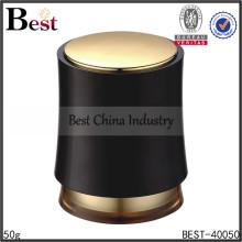 tarro plástico negro de los cosméticos 50g, tarro de crema plástico de los cosméticos 50g