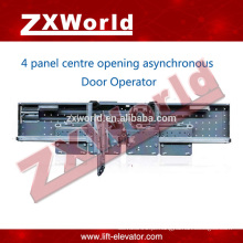 Elevador porta fechadura portas / automático deslizante Operador de porta assíncrono -4 painel porta de abertura lateral
