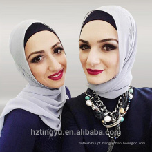 36 Cores Moda Chiffon Simples Hijab Mulheres Muçulmanas Bolha Chiffon Hijab Cachecóis Atacado