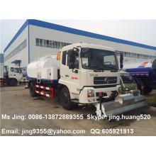 China Dongfeng DFL alta pressão rua lavagem caminhão 8500L tanque de água com sprinkler