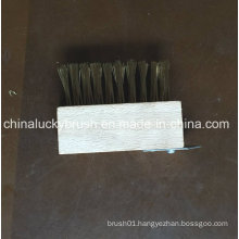 Wooden Board Black Steel Wire Brush with Schleifer (YY-498)
