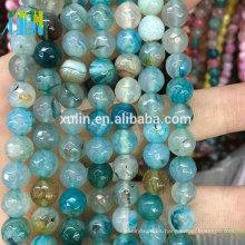 piedras preciosas naturales de jade piedra de 8 mm facetas perlas de joyería de piedra redonda