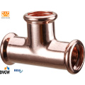 Copper Press Fitting T-Coupling Reduction 28