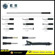 Coagulación monopolar reutilizable L-Hook Ligator Espátula Aguja Electrodo 5mm