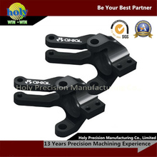 Черный анодированный подвергать механической обработке CNC части велосипеда Trike