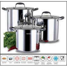 6PCS Stainless Steel Soup Pot Set