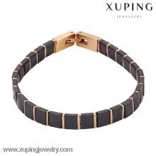 Pulseras de cuero italiano al por mayor de la joyería plateada oro de la moda 74279-xuping