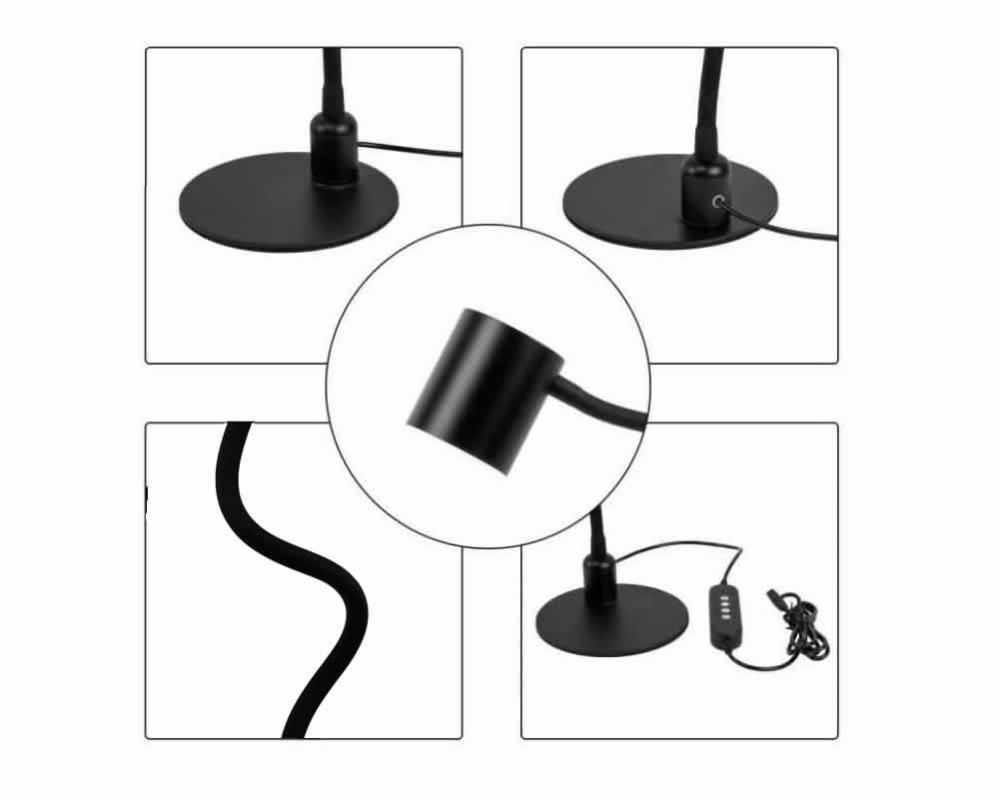 Led Table Lamp Black 6