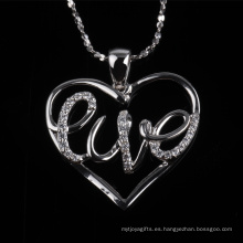 Precio competitivo forma de corazón amor colgante de joyería