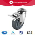 Hollow Kingpin Swivel TPR Caster With Brake