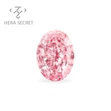 ForeverFlame  fancy pink Oval Cut diamond CVD CZ Moissanite