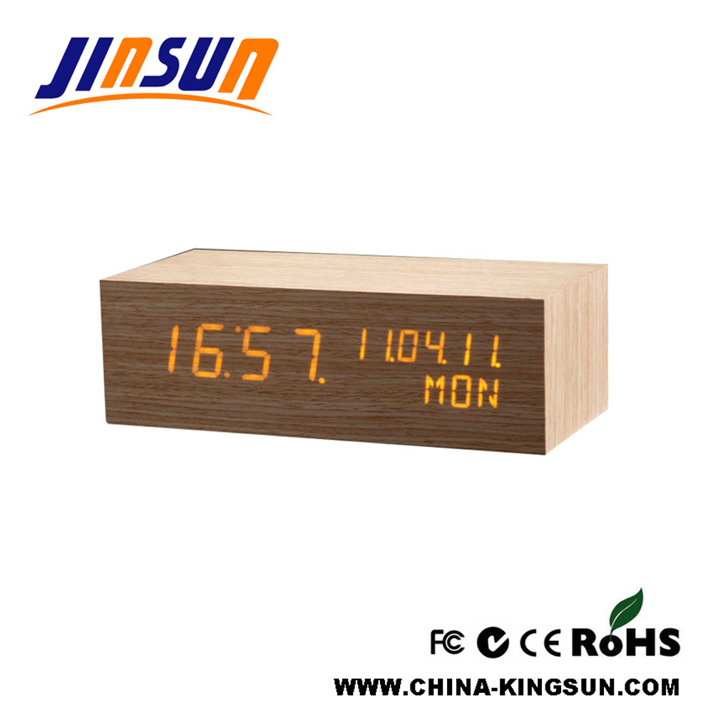 Luxury Table Calendar LED Clock Decorative