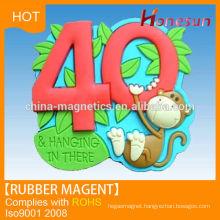 Popular magnetic rubber fridge magnet with soft PVC
