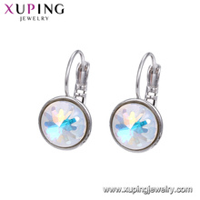95884 xuping fashion design drop earrings with large Swarovski crystals