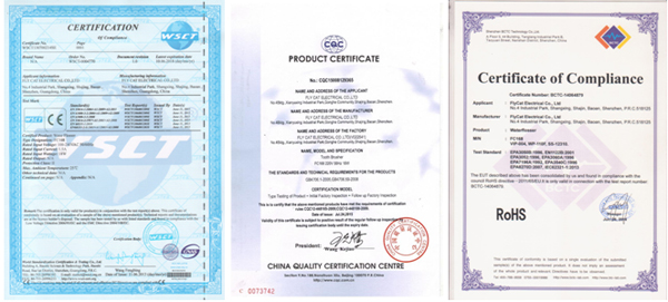 oral irrigator certification