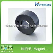 Неодимовые магниты 2 отверстия с Черный эпоксидной D10 * d5mm