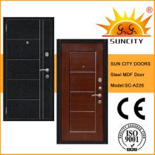 2016 Acero exterior caliente dentro de la puerta de acero blindada MDF (SC-A226)