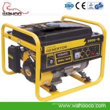 Generador de gasolina del estilo de Europa de la venta caliente, generador del CE con comienzo teledirigido (WH2600)