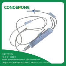 Ensemble de perfusion intraveineuse pédiatrique jetable avec burette 150ml 100ml