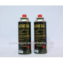 Cartucho del gas del butano de 450ml 220g China / cilindro de gas más ligero / cartucho de gas portátil FÁBRICA