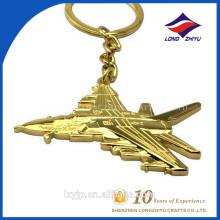 Gold Plating Flugzeug Design Schlüsselbund für Flughäfen