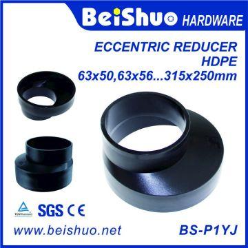 Sistema de drenaje PE Reductores excéntricos para montaje de tuberías