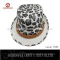 Billige Männer Leopard drucken Fedora Hut