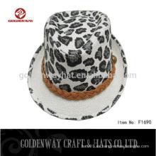 Sombrero barato del fedora de la impresión del leopardo de los hombres