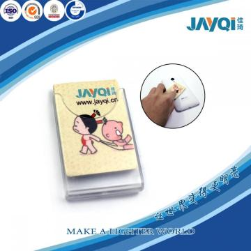 Promoción microfibra limpiadora con la esponja