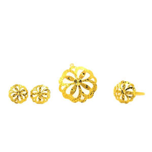 Perhiasan Lucky Leaf Set K Gold