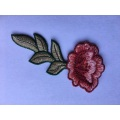 custom beautiful water soluble embroidery flower patches