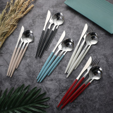 Wholesale ABS Plastic Handle Stainless Cutlery Set