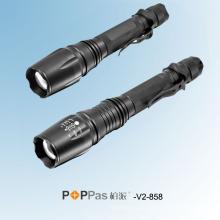 500 люмен CREE Xm-L T6 Zoom Алюминиевый светодиодный перезаряжаемый фонарик (POPPAS-V2-858)